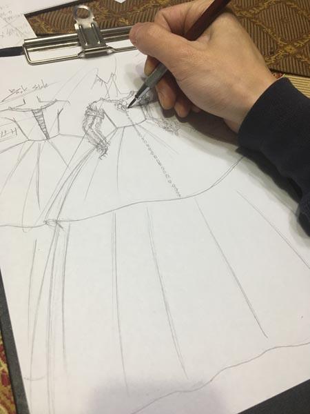 バロック調 子供用ドレス