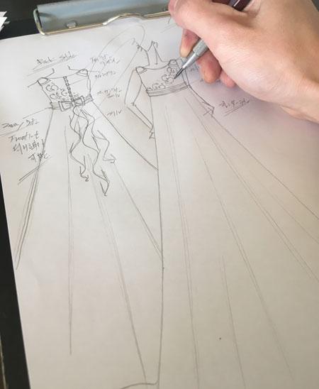 お客様からのイメージを考えたデザイン画
