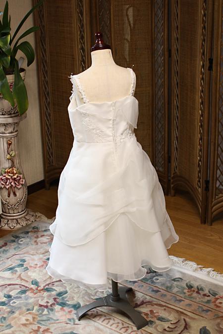 結婚式用の子供用ドレス