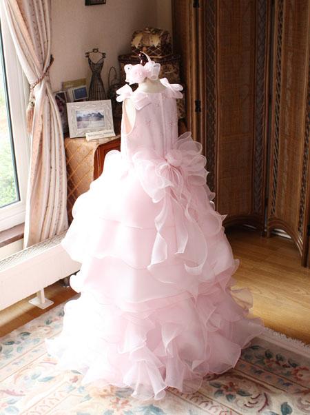 ピティナ用ピアノのコンペティションドレス ライトピンク