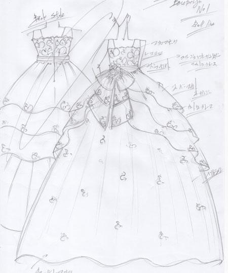 小学生のお子様にデザインをさせて頂いたピアノの受賞者コンサートドレス