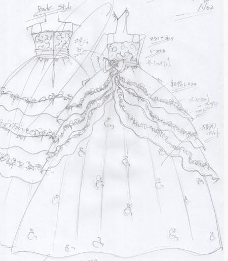 120cm前後のお子様に似合うドレスのデザイン
