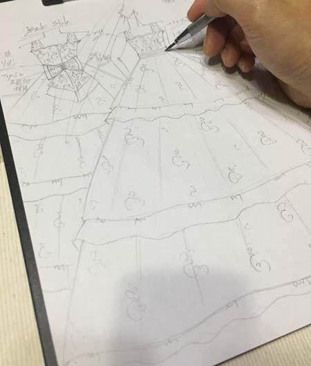 大阪府大阪市のお子様に描いたピアノのコンクールドレス