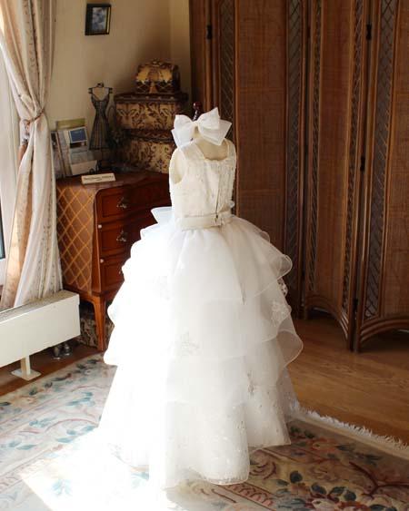 ピアノのコンサート用ドレス オフホワイト