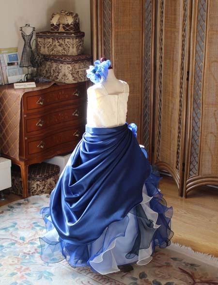 バックスタイル アシンメトリードレス