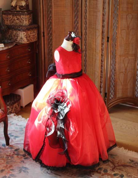 ピアノのコンサート用ドレス レッド 横浜市のお客様ドレス