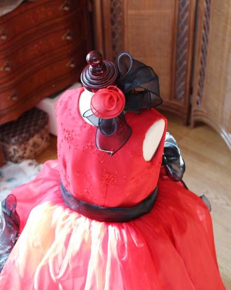 ヘッドドレス リボンとコサージュデザイン