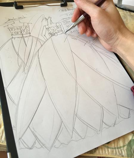 ピアノの発表会ドレス 東京都のお子様にドレスをデザイン