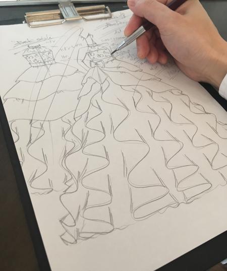 ピアノの連弾用コンクールドレス 東京都の小学生用デザイン