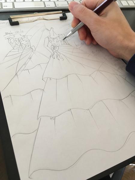 キッズモデル用ドレスのデザイン
