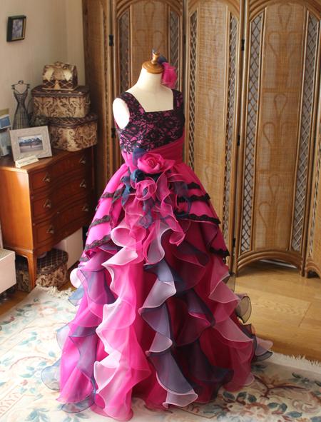 高校生用ロングドレス オーダーメイドドレス