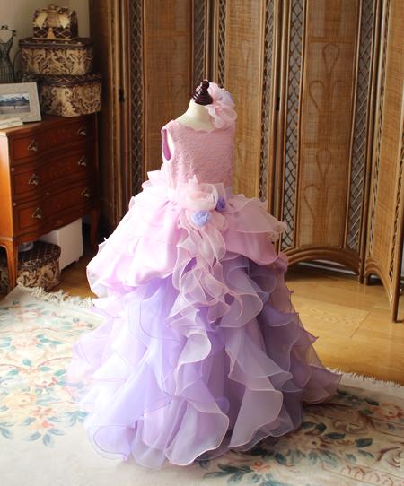 ピアノのコンチェルト用ドレス ピンクミックスカラー 120cm
