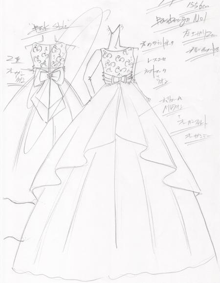コンクールドレス デザイン画の制作 福岡県のお客様