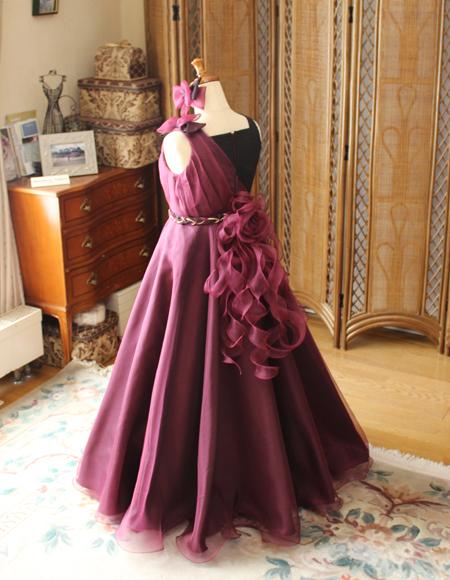 大分県のお客様に制作したコンクール用ドレス