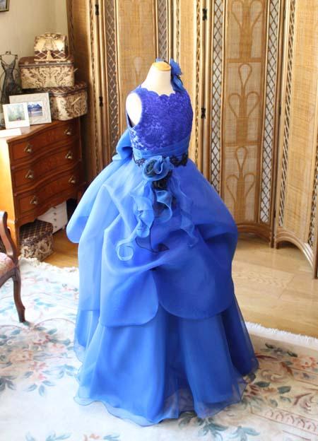 バイオリン用ジュニアサイズドレス ブルー