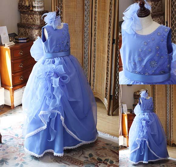 人気のブルーの発表会ドレス