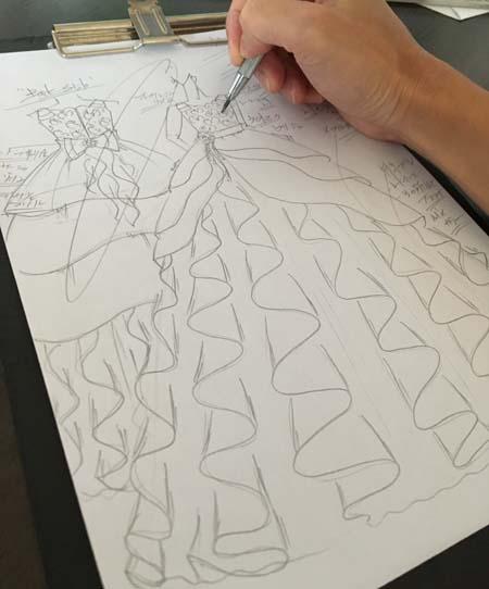 福岡県のお子様にデザイン ピアノのコンチェルトドレス