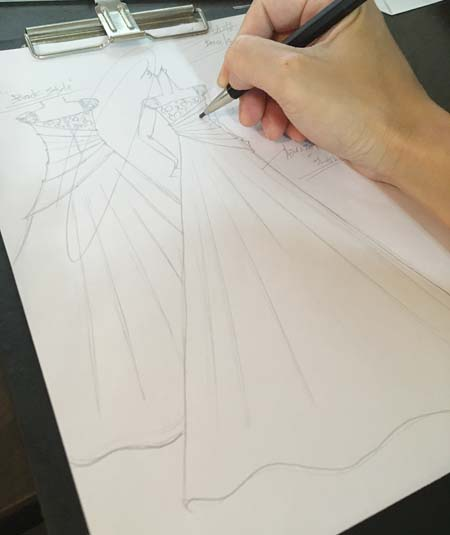 デザイン画 ヴァイオリン用ドレス オーダーメイド制作