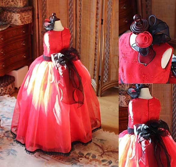 可愛らしく豪華なデザインの子供用ドレス