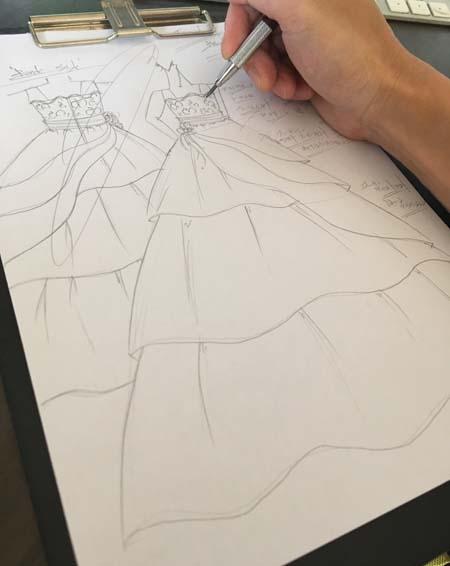 デザインコンセプトとデザインがの立案 ジュニアサイズドレス用