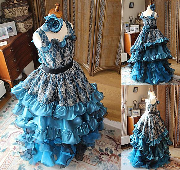 ドレスのトップスと詳細のデザイン