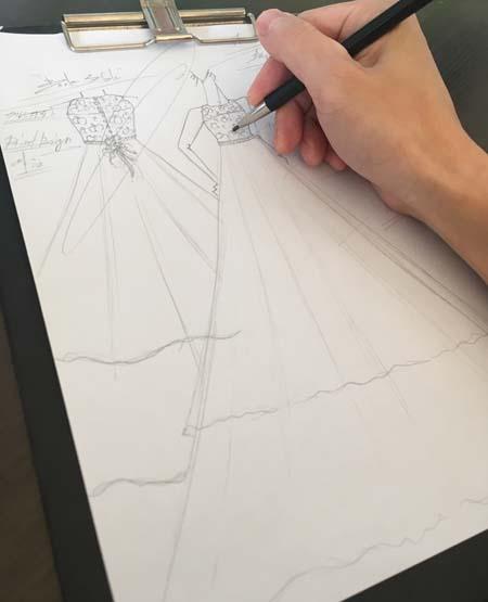 リサイタルドレスのデザイン画
