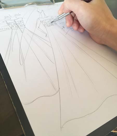 ピアノの受賞者コンサート オーダーメイドで制作するデザイン画