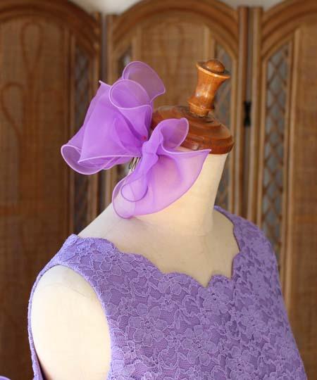 リボンの髪飾りとヘッドドレス