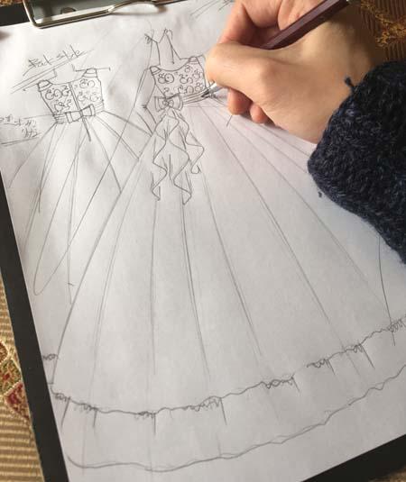 ピアノの受賞者コンサートドレスの立案