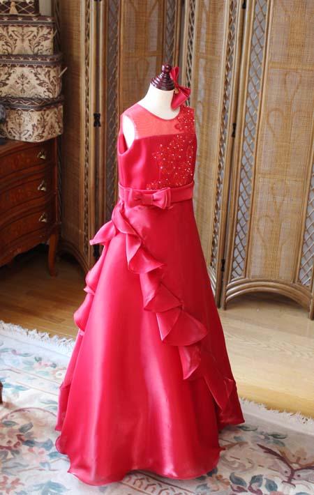 ピアノの受賞者用ドレス レッド