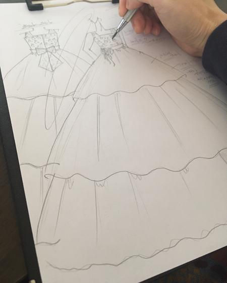 ピアノの入賞者記念コンサート用ドレス