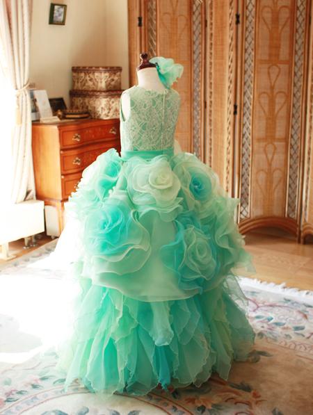 ジュニアドレスのオーダーメイド制作 オートクチュールドレス