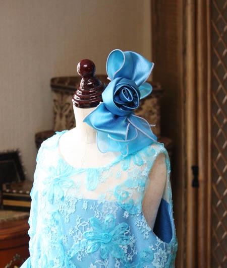 リボンとコサージュの髪飾り へッドドレスの詳細