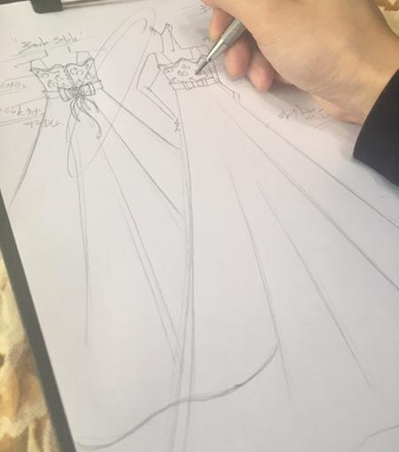 ジュニアドレスのデザイン画