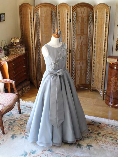 フレアAラインスカートのロングドレス