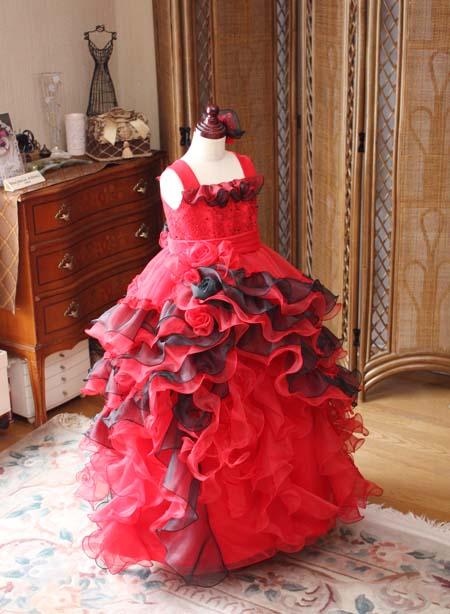 アシンメトリーデザインのスカート 小学生の演奏家向けドレス