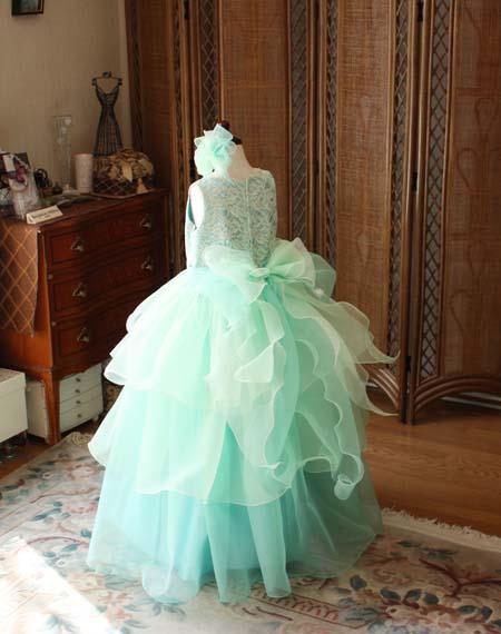 スカートデザインとドレスの背後のデザイン