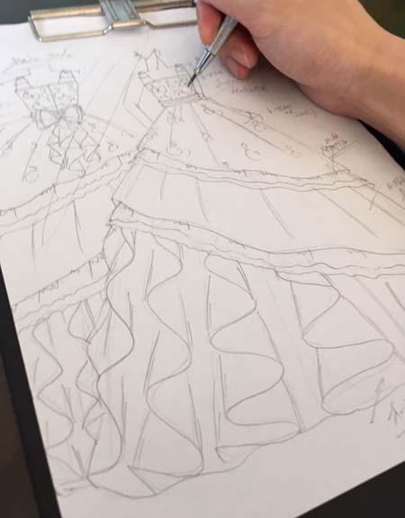ピアノのコンサートドレスを立案 大阪府の小学生ドレス