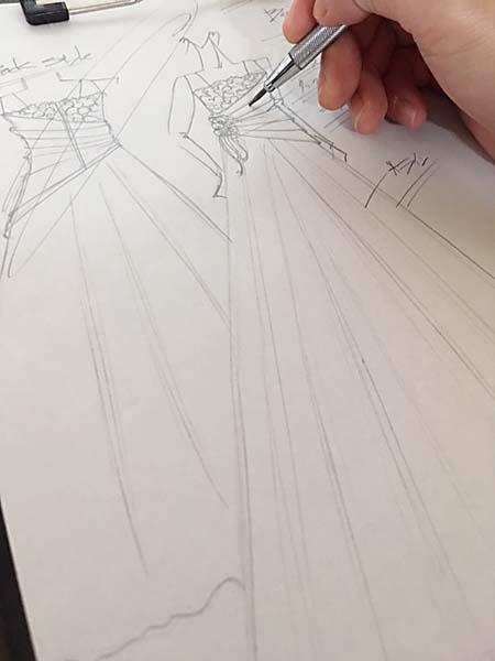 コンサートドレス デザイン画