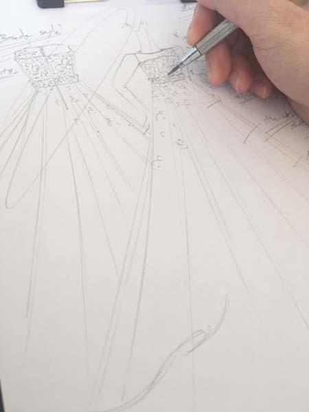 ピアノのコンサートドレス デザインの立案