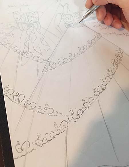 ピアノのコンサートドレス  デザイン