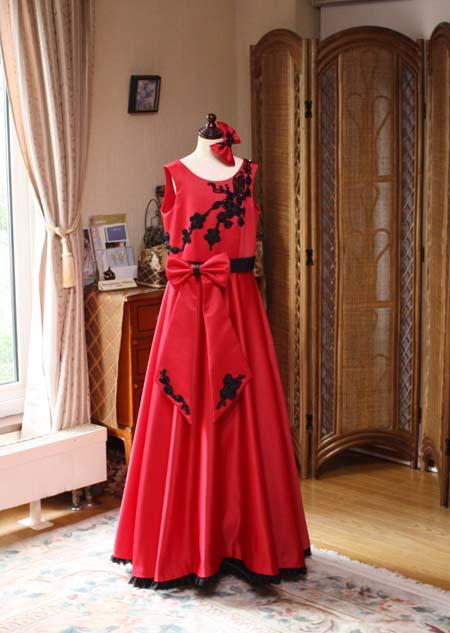 レッドのジュニアドレス スレンダーライン