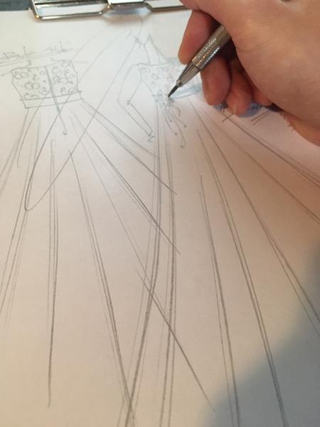 栃木県のお子様にピアノのコンサートドレスを立案 デザイン画