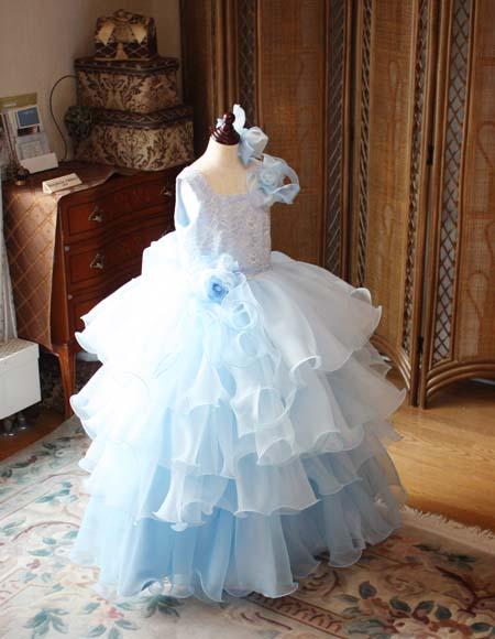 発表会ドレス 小学生 ボリュームのあるスカート