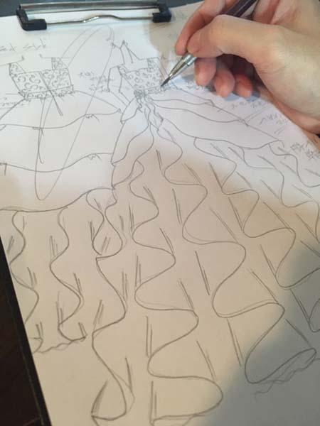 小学生のピアノのアーティストに描いたデザイン画