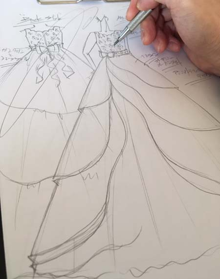 ピアノの入賞者記念コンサートドレス デザイン 札幌の小学生