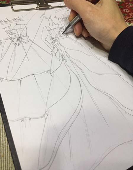 コンサートドレス 兵庫県の小学生に描いたデザイン画