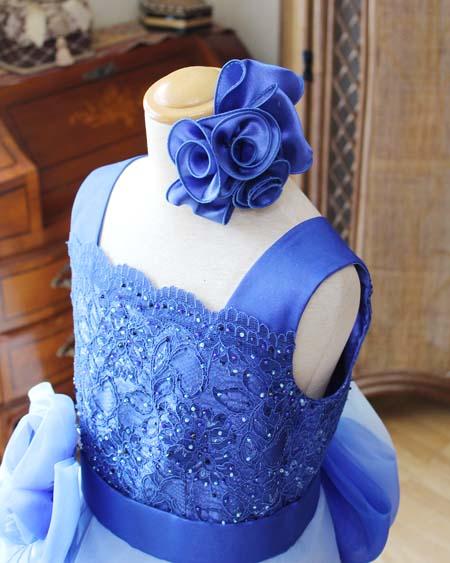 コサージュ構成のヘッドドレス