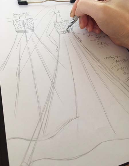 ロングドレス オーダーメイドドレスのデザイン画