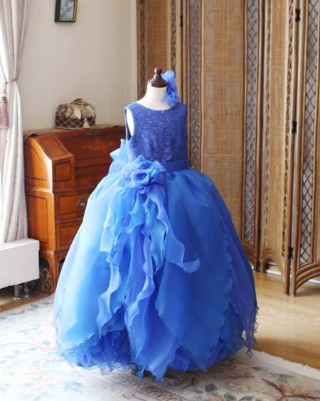 入賞者記念コンサートドレス ブルー 兵庫県